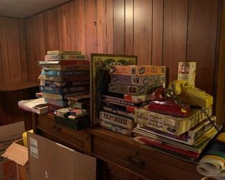 Vintage children's toys and games