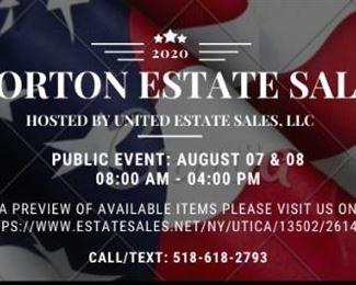 Morton Estate Sale Advertisment