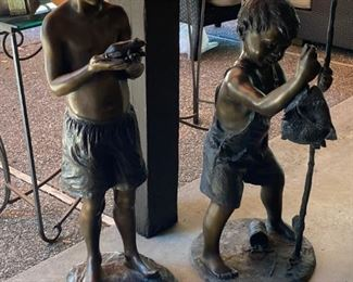Bronze cast sculptures
