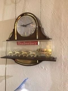 Budweiser clock with box. Only given away to certain bars 1970's