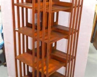 Oak Revolving Bookcase