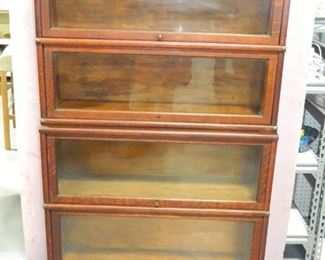 Oak 4 Stack Globe Wernicke Lawyer's Bookcase