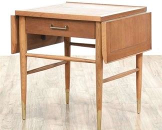 Lane Mid Century Modern Drop Leaf Console Table