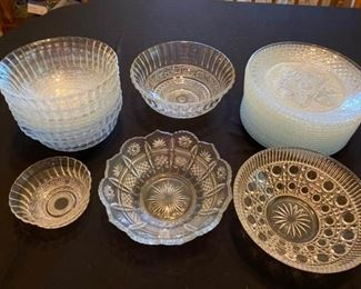 Cut glassware Bowls and Plates