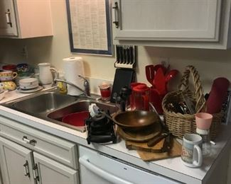 Lots of kitchen items.