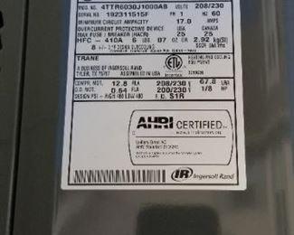 Trane XR 410A manufactured 6/2019