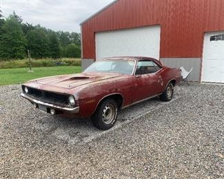1970 Cuda Numbers Matching 383 Motor and Body Panels Muscle Car - for Restoration - This car is for Sale Now and may be purchased prior to the sale - 4405067738