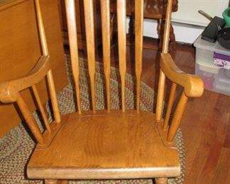 Maple rocker with stenciling