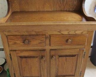 Oak dry sink.