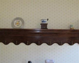Long, wall shelf, walnut