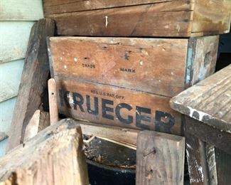 Old wooden boxes all kinds