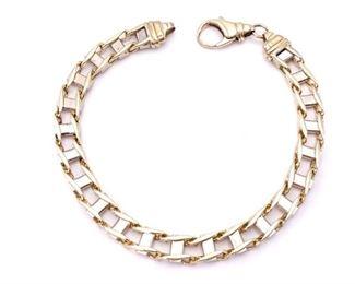 Gorgeous Designer Styled Heavy 10k Solid Gold Bracelet; 32.5 grams