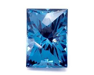 Woah. 23.22 Carat Tahoe Blue Topaz; Designed by Arya Akhavan