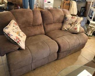microfiber electric recliner sofa