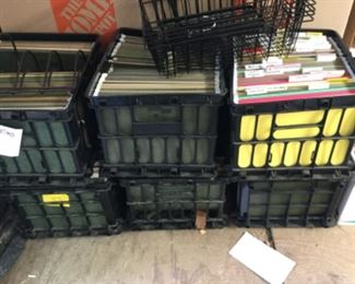 Crates of files