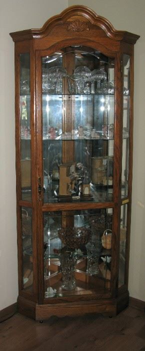 Large corner cabinet curio   BUY IT NOW $ 165.00