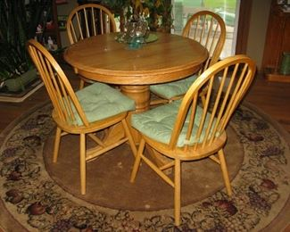 oak kitchen table, leaf and 4 chairs                                                     BUY IT NOW $ 185.00