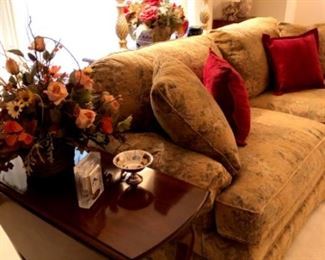We Have For You A Beautiful Two Cushion Sofa...Side Tables...Lamps...and lot's Of Florals!...