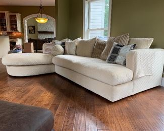 """3. Custom Sofa with Chaise $2200                                           122"""" long x 61"""" x 31"""" tall  - chaise is 89"""" long x 38"""" wide"""