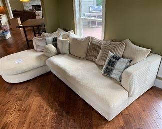"""3. Custom Sofa with Chaise $2200.      122"""" long x 61"""" x 31"""" tall  - chaise is 89"""" long x 38"""" wide"""