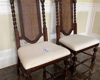 """8. 2 Dining Chairs wide seats $175 for both.                         22"""" x 19""""x is 48"""" tall"""