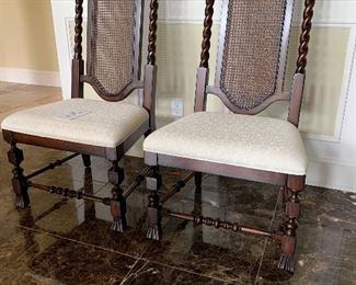 """8. 2 Dining Chairs wide seats $175 for both                             22"""" x 19""""x is 48"""" tall"""