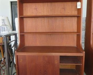 1960 Danish Modern Mid Century TEAK Bookshelf Cabinet.
