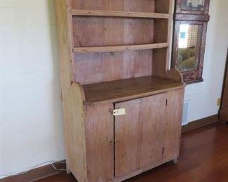Texas Pine Stepback Kitchen Cupboard; Ex. Bybee Collection 75x43x21