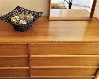 Mid-century modern Jesper Danish dresser and mirror $450.00.  6 drawers. See other photos.