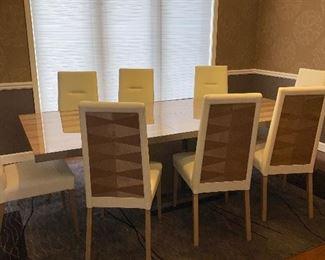$6,750 ITALIAN DESIGNER ALF MONACO DINING ROOM SET