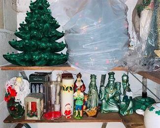 ceramic christmas tree hundreds of decorations