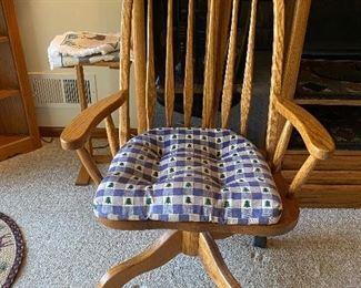Oak Office Chair $45.00