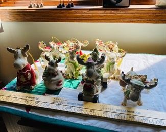 Lenox Moose Ornaments, Including 2014! $175.00 for all