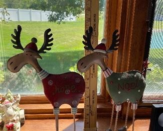 Two Metal Moose $10.00 for both