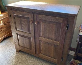 Oak Two Door Cabinet $100.00