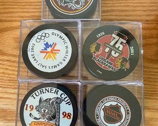 5 Hockey Pucks $10.00 All