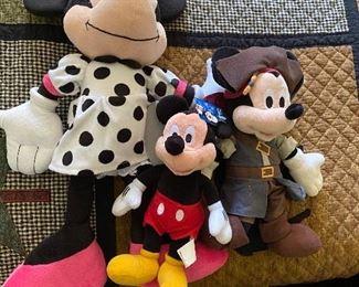 3 Disney Plush $6.00
