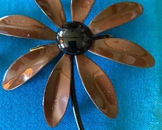 Brown Flower Pin $4.00