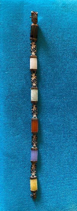 Sterling Silver Multi Stone Bracelet $15.00