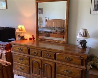 Cochrane Oak Dresser with Mirror $250.00