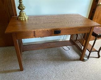 Mission Style Desk with Chair $100.00