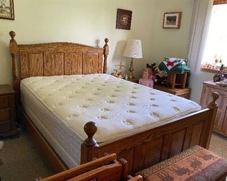 Sold Oak Bed with Mattress and Box Spring $250.00