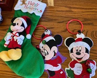 Two Disney Door Hangers and A stocking $5.00