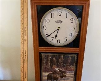 Wild Things Moose Battery Operated Clock $35.00