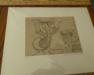Donald Duck unframed $8.00