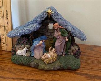 Nativity, lights up $7.00