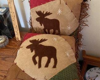 2 Moose Pillows $10.00