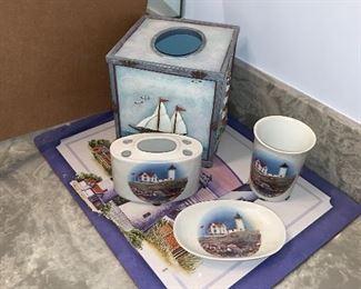 Lighthouse Bathroom Set $20.00