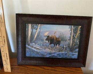 Moose print framed $8.00