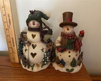 Two Snowman Candleholders $12.00 for both